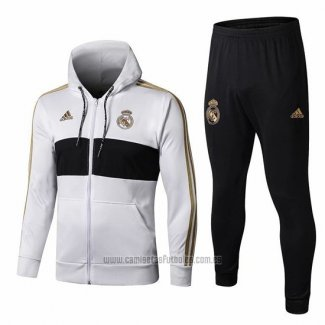 Chandal con Capucha del Real Madrid 2019-2020 Blanco
